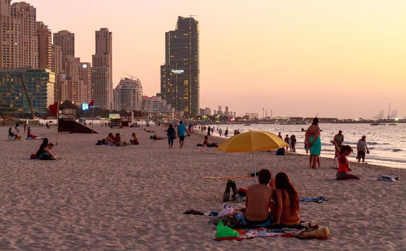 Marina beach, JBR, Dubai