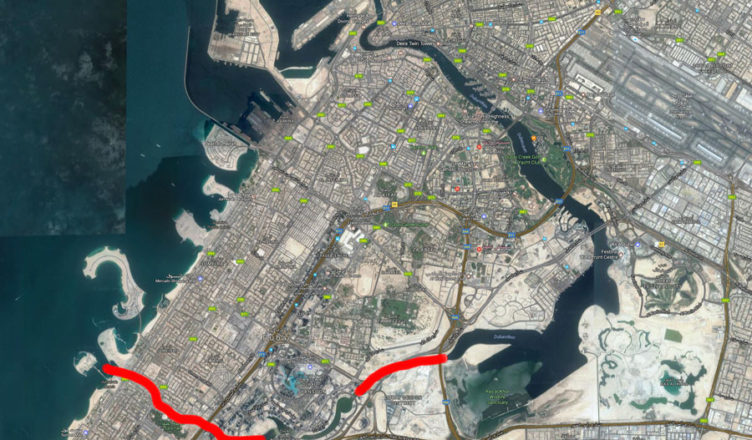 Dubai Canal sträckning